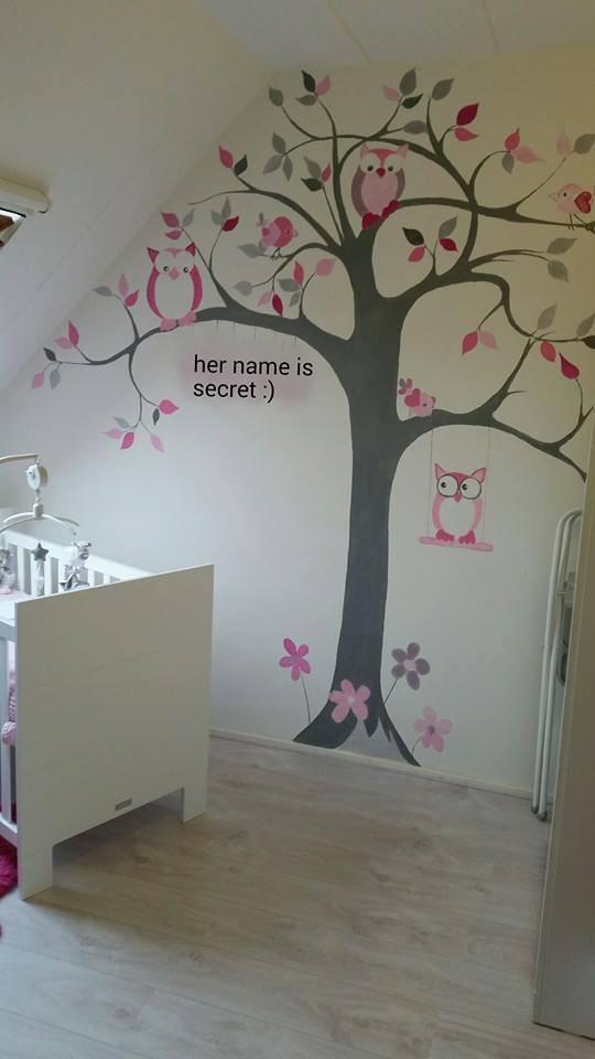 Schilderij babykamer schaap schaap van vilt en pompons ody else kleur slaapkamer kind ikea - Grijs muurschildering ...
